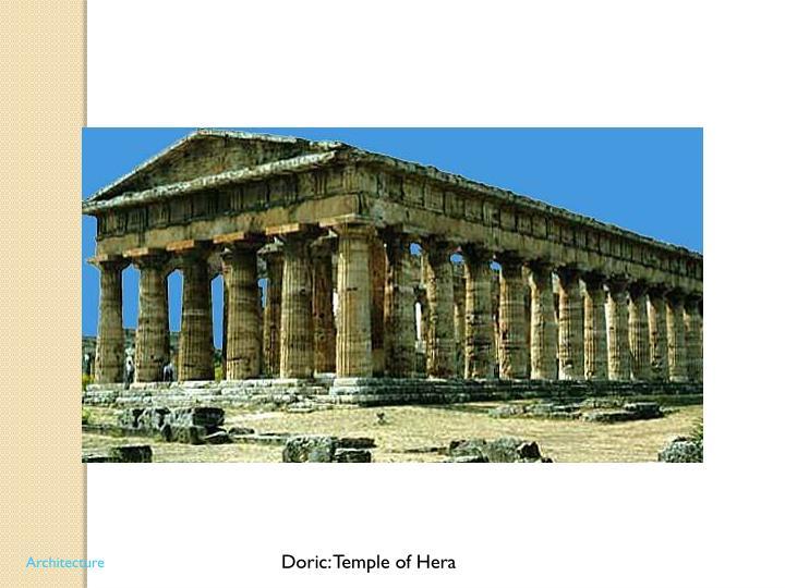 Doric: Temple of Hera