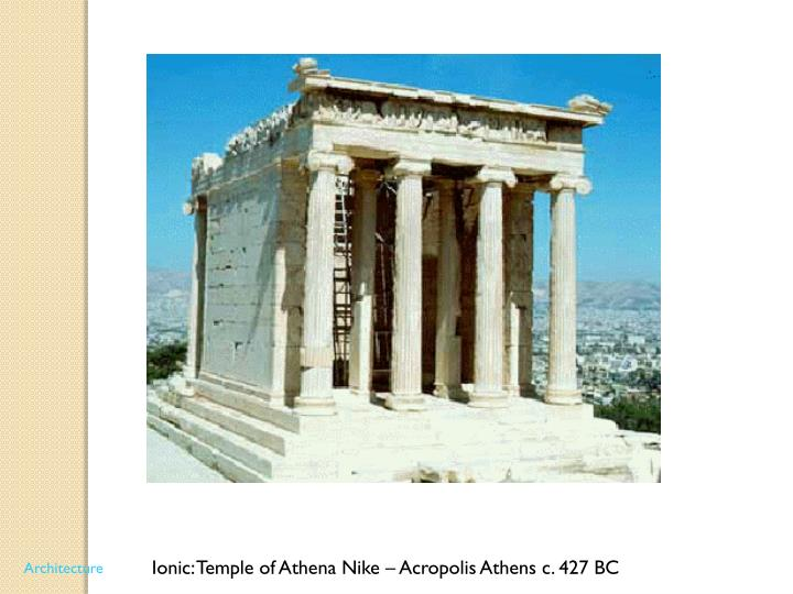 Ionic: Temple of Athena Nike