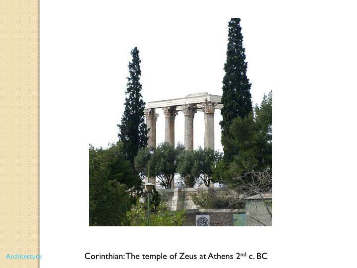 Corinthian: The temple of Zeus at Athens