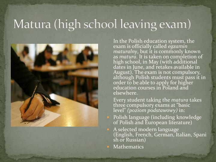 Matura (high school