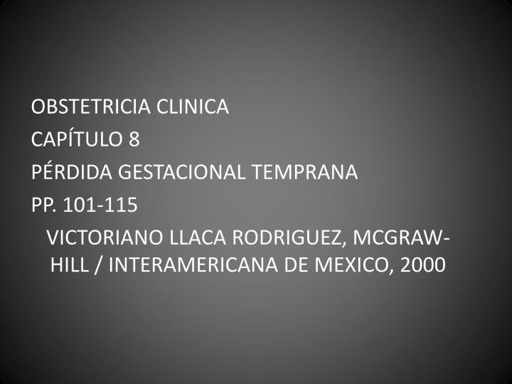 OBSTETRICIA CLINICA