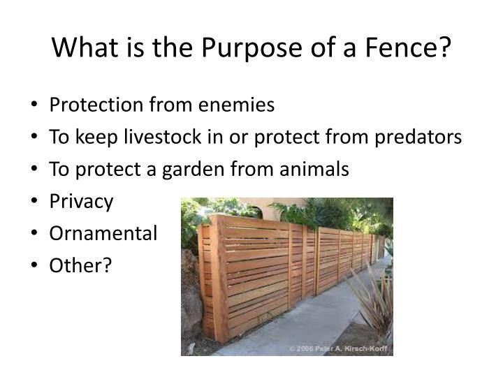 Fence Construction PowerPoint Presentation