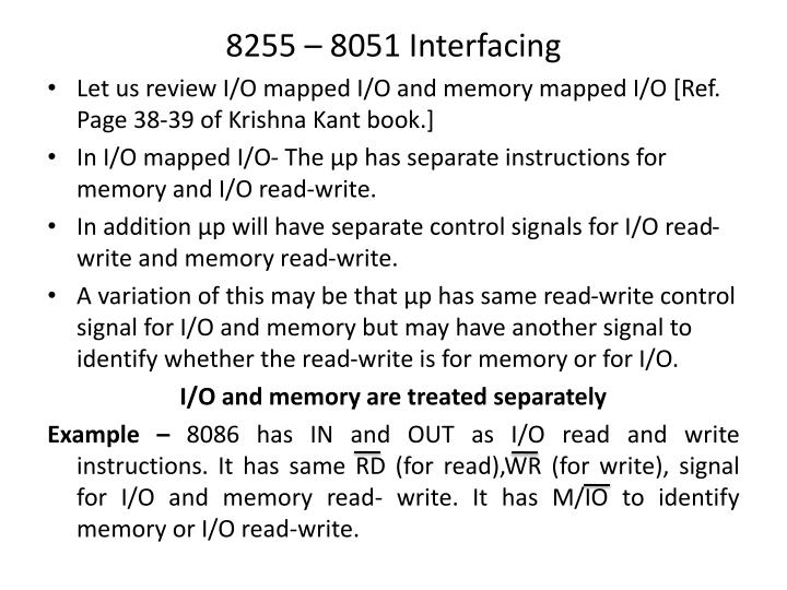 8255 – 8051 Interfacing