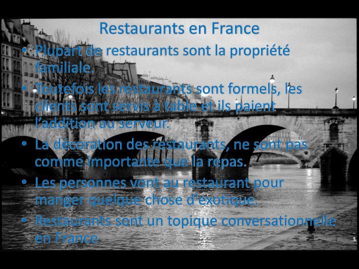 Restaurants en