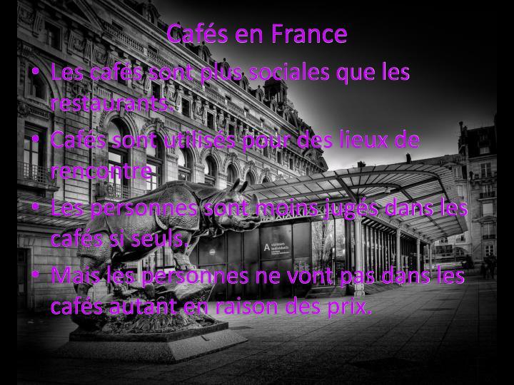 Cafés en France