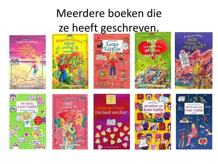 Meerdere boeken die