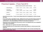 preschool update from feb 20103