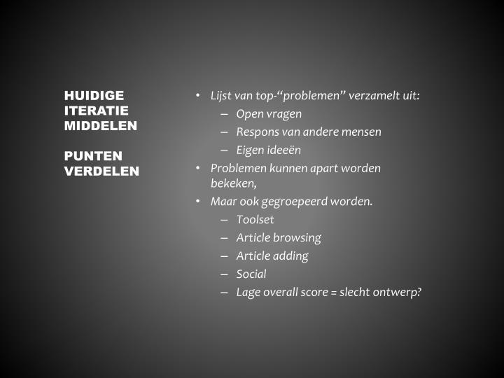 """Lijst van top-""""problemen"""" verzamelt uit:"""