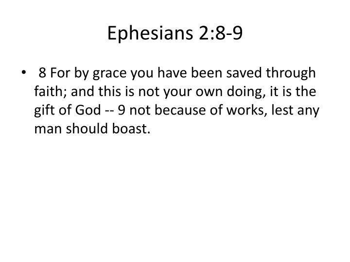 Ephesians 2:8-9