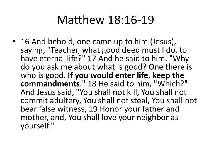 Matthew 18:16-19