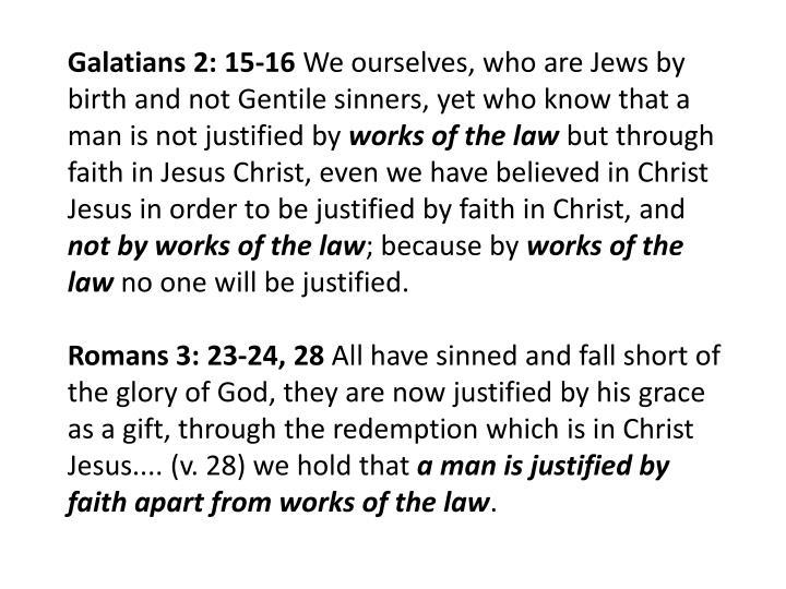 Galatians 2: 15-16