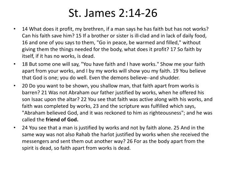 St. James 2:14-26