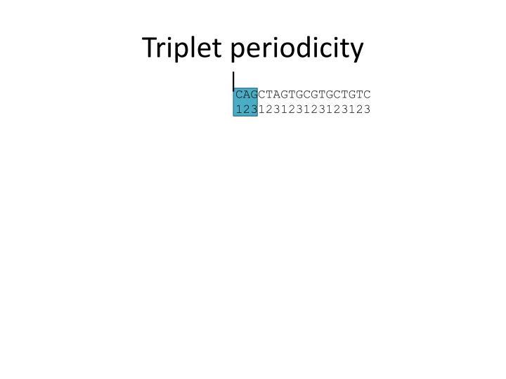Triplet periodicity