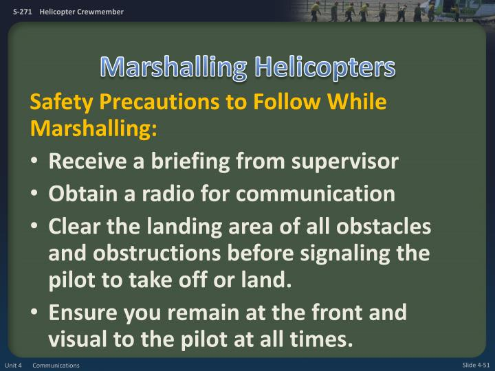 Marshalling Helicopters