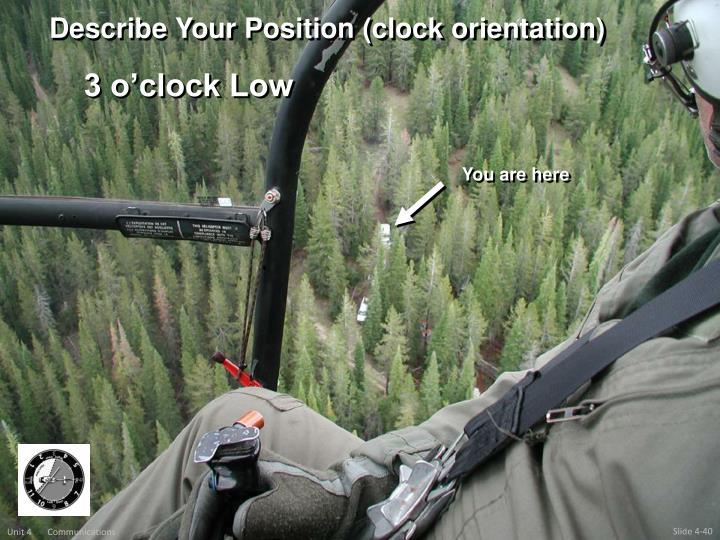 Describe Your Position (clock orientation)