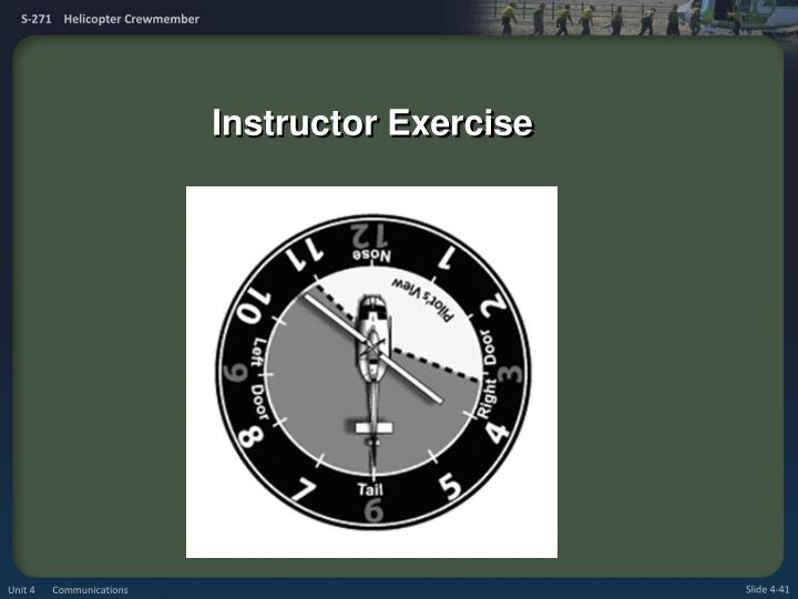Instructor Exercise