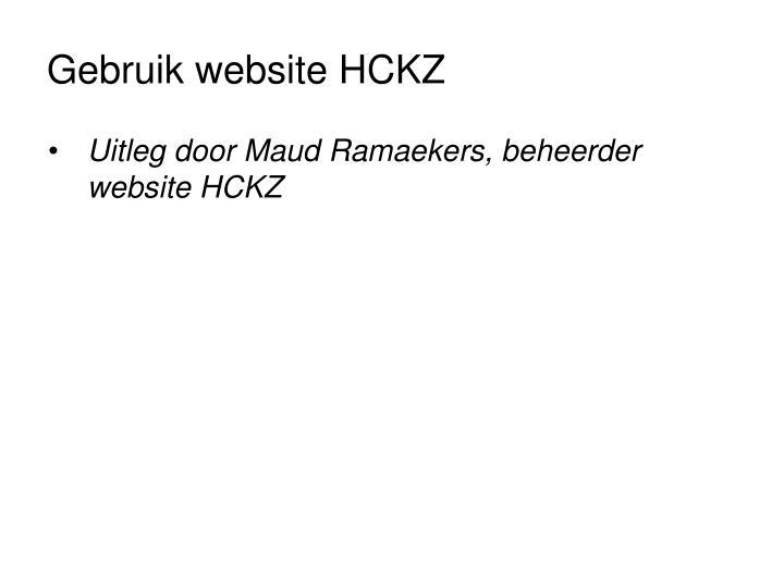 Gebruik website HCKZ
