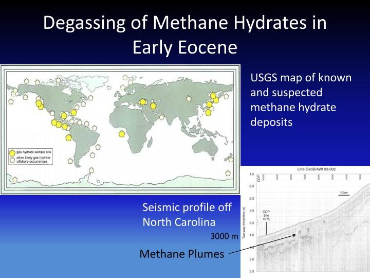 Degassing of Methane Hydrates in Early Eocene