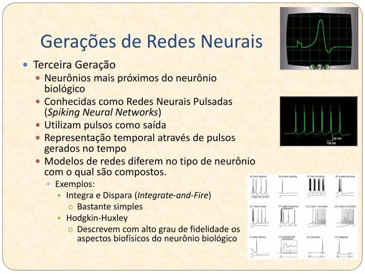 Gerações de Redes Neurais
