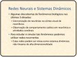 redes neurais e sistemas din micos