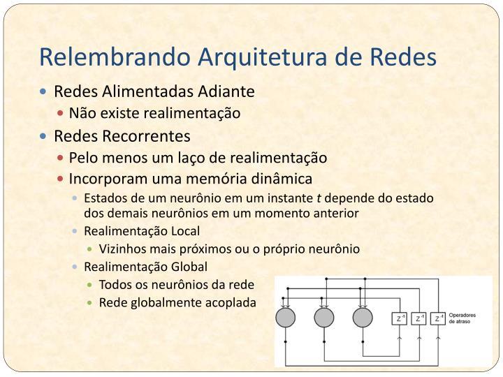 Relembrando Arquitetura de Redes