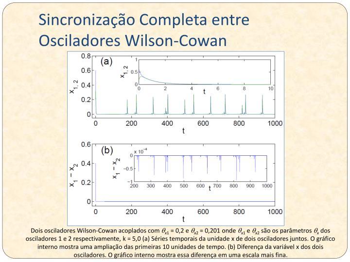 Sincronização Completa entre Osciladores