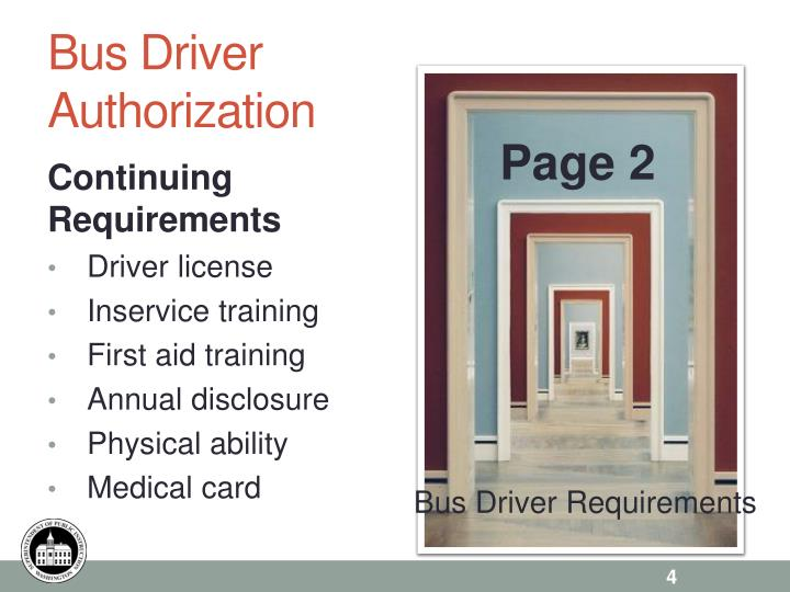 Bus Driver Authorization