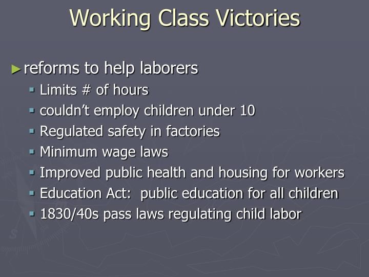 Working Class Victories
