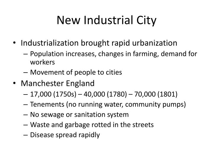 New industrial city