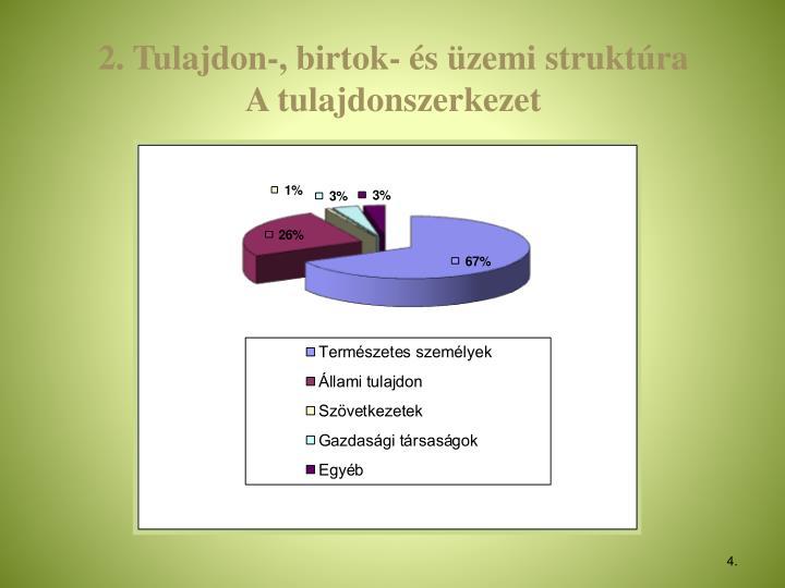 2. Tulajdon-, birtok- és üzemi struktúra