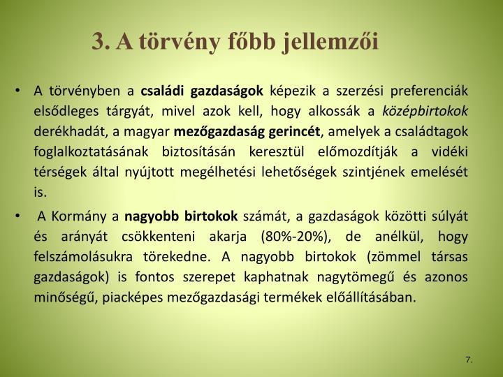 3. A trvny fbb jellemzi