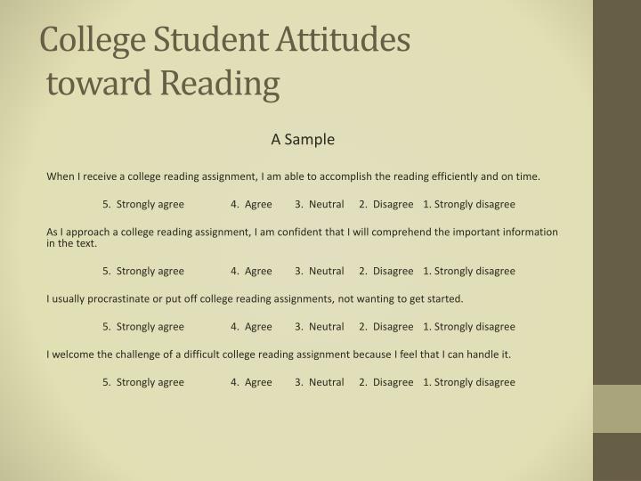 College Student Attitudes