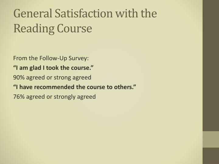 General Satisfaction with the
