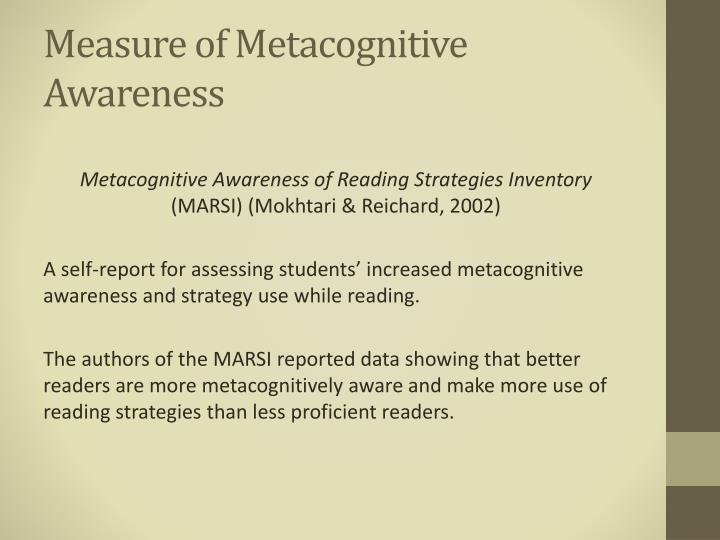 Measure of Metacognitive Awareness