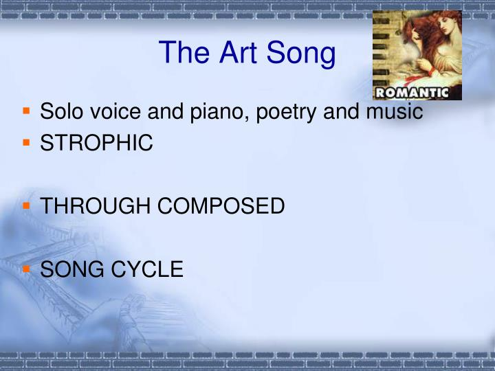 The Art Song