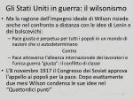 gli stati uniti in guerra il wilsonismo5