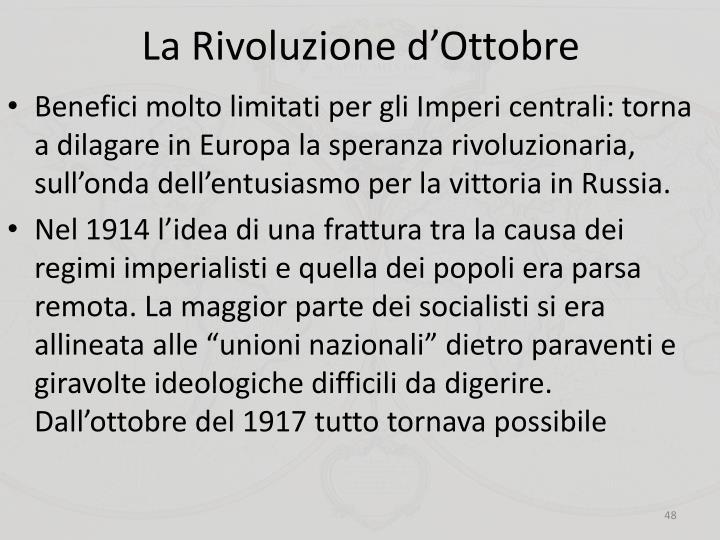 La Rivoluzione d'Ottobre