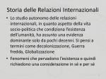 storia delle relazioni internazionali1