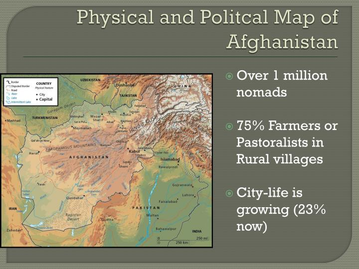 Physical and Politcal Map of Afghanistan