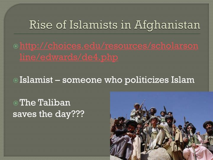 Rise of Islamists in Afghanistan