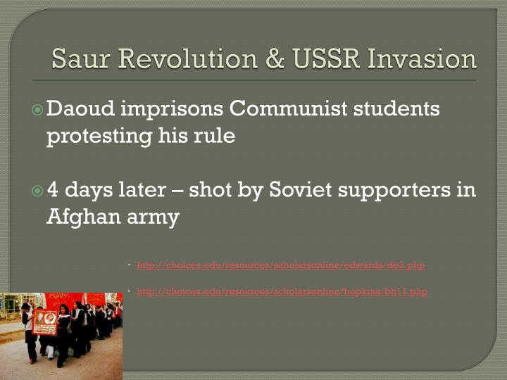 Saur Revolution & USSR Invasion