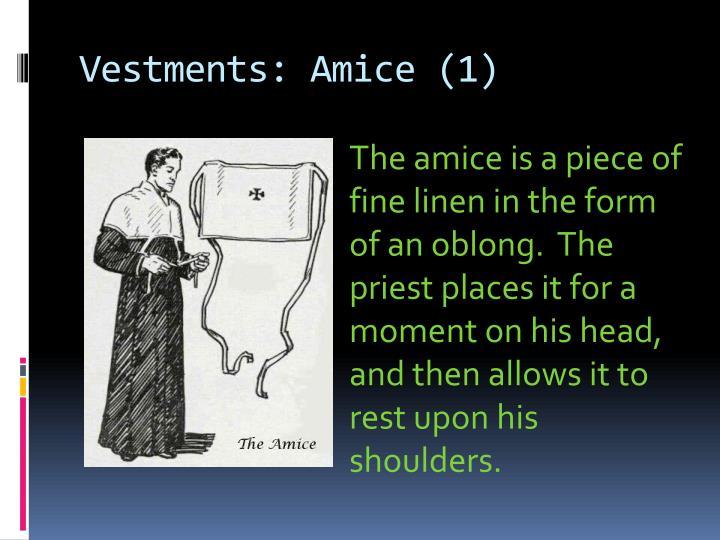 Vestments: Amice (1)
