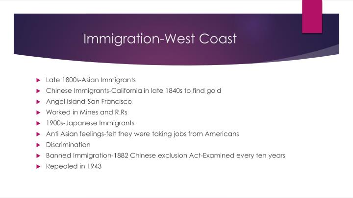 Immigration-West Coast