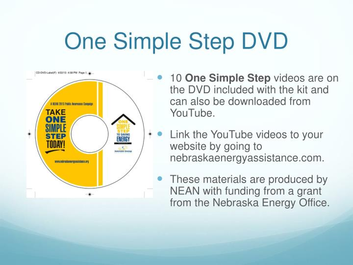 One Simple Step DVD