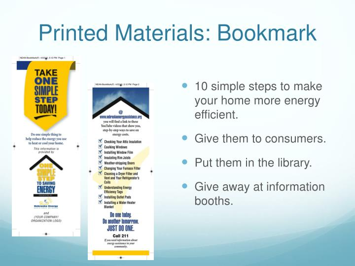 Printed Materials: Bookmark