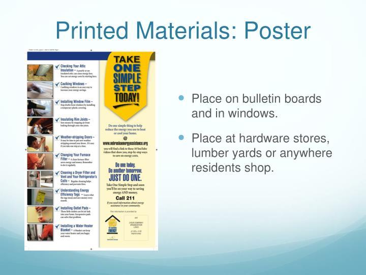 Printed Materials: Poster