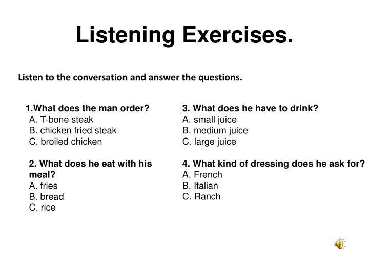 Listening Exercises