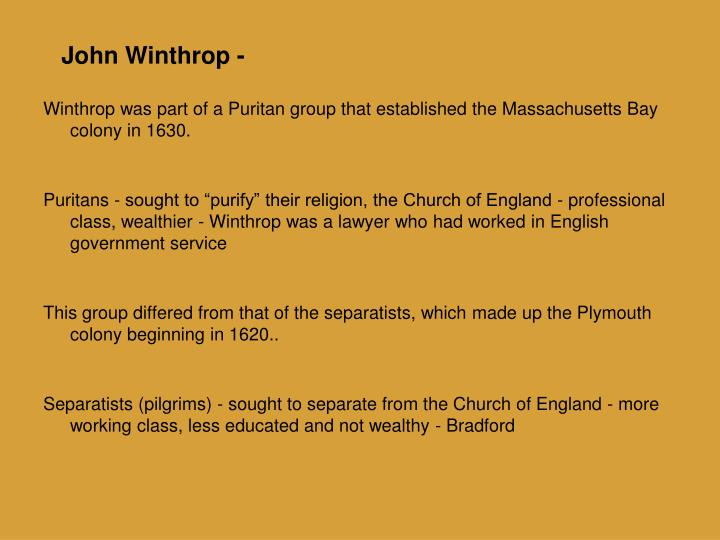 the extremist views of religion through the puritans of the massachusetts bay colony