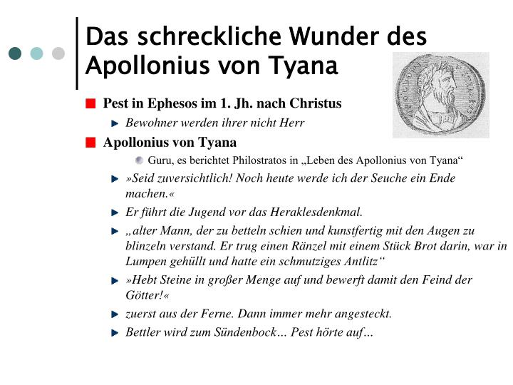 Das schreckliche Wunder des Apollonius von Tyana