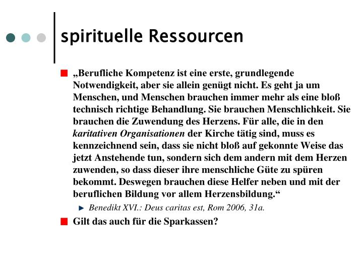 spirituelle Ressourcen